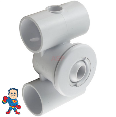 """Complete Jet and Body ,Hydro Jet, 2-3/8"""" hole size, Eyeball, air 1-1/2"""" slip, water 1-1/2"""" slip, Thin Flange"""
