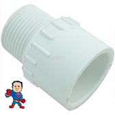"Male Pipe Fitting, Adapter, 1"" Slip x 1"" MPT"