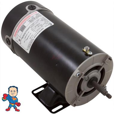 Motor, Century, 2.0hp, 230v, 2-spd, SF 1.00, 48Y frame, 10.5/2.6A