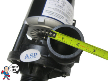 """The inlet and outlet measure about 2 5/16"""" across the threads.. Complete Pump, Aqua-Flo, FMHP, 1.0HP, 115v, 48fr, 1-1/2"""", 1 or 2 Speed"""