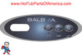 Overlay, Balboa Duplex Mini Oval, 3 Button Jet, Temp and Light