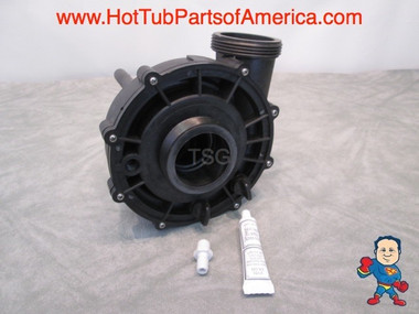 """Universal CMP Spa Hot Tub Pump Wet End 2"""" X 2"""" 48 or 56 Frame 3 HP Barb Video How To This is an exact match for various AquaFlo XP2 models and will also replace Vico Ultimax, and Waterway Hi-Flo, EX2, and Super-Flo pump wet ends. This wet end is used with a 3.0hp, 48 or 56 frame thru-bolt style motor."""