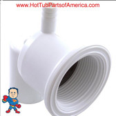 "Jet Body, Pentair American Products Luxury Micro, Air 3/8"" barb, Water 3/4"" Slip.. The Slip fitting accepts a 3/4"" Piece of pipe that would measure 3/4"" I.D. and 1"" O.D. ..."