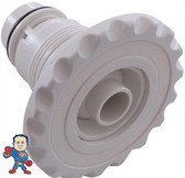 """Jet Internal, Waterway, Poly Jet, 4-3/16"""" face diameter, Fixed Directional, Deluxe Scallop, White"""