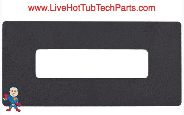 """Adapter Blackout Plate, Hydro-Quip 8-1/2"""" x 3-1/2"""". For Eco-401 or Balboa  E4 Duplex Topside"""