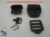 (1) Spa Hot Tub Cover Latch Strap Repair Kit & Key Hot Spring Caldera Video How To