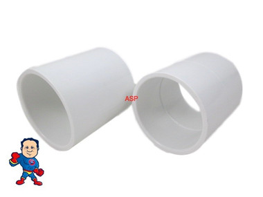 "2X Hot Tub Spa 2"" Slip X 2"" Slip Coupler Plumbing PVC Fitting"