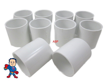 "10X Hot Tub Spa 2"" Slip X 2"" Slip Coupler Plumbing PVC Fitting"