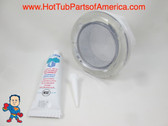 """Spa Hot Tub Light Lens Kit with Silicon 5"""" Face Lense Part Standard How To Video"""