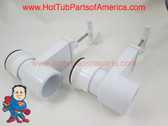 """Set of (2) Hot Tub Spa Gate Slice Valve 1 1/2"""" Heater Union How To Video"""