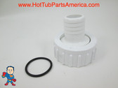 "Set of 2 Hot Tub Spa 1"" X 1"" Barb Pump Union O-Ring Tiny Might others Video"