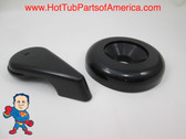 "Spa Hot Tub Diverter Handle & Cap 3 5/8"" Wide Black Smooth Universal Video"