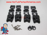 Spa Hot Tub Cover (4) Latch Lock Kit Key ACW Latch Strap Repair Kit Clip Video