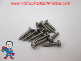 "Spa Hot Tub Cover Latch Screw Kit 12 Stainless Steel Screws 1/2"" Video How To"