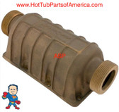 "Side Mount Heater Manifold Hydro-Quip API Series 1 1/2"" Bronze replace Aluminum"