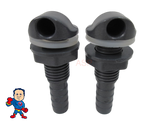 """2 X Spa Hot Tub Air Relief 3/8"""" Barb Gray Nozzle Fitting Leisure Bay Part Video"""