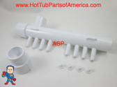 "Hot Tub Spa Air Manifold Part 1"" Slip X 1"" Spigot X (8) 3/8"" Barbs Video How To"