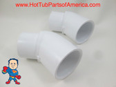 "2x Hot Tub Spa 45° 2"" Street X 2"" Slip Plumbing ELL PVC Fitting How To Video"