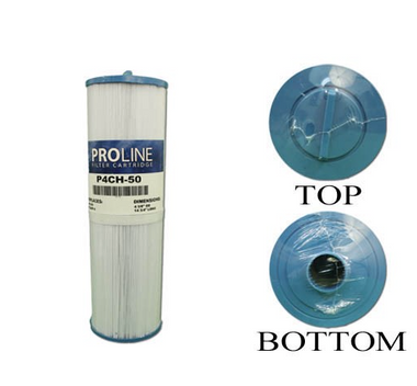 "Filter Cartridge, Proline, Diameter: 4-5/8"", Length: 14-3/4"", Top: Handle, Bottom: 1-1/2"" MPT, 50 sq ft"
