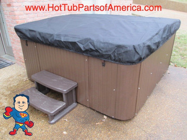 Spa Hot Tub CoverCap® Cover Cap Custom Order Made in USA Video How To Cal