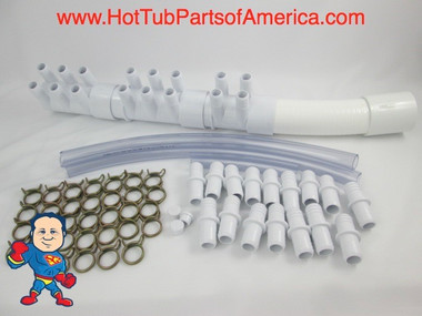 "Manifold Hot Tub Spa Part 16 3/4"" Outlets with Coupler Kit Video How To"