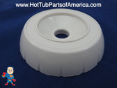 "Spa Hot Tub Diverter Cap 3 3/4"" Wide White Notched Buttress Style How To Video"