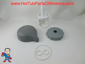 "Diverter Valve 4"" Kit Sundance® 01 - 3  Teardrop Knob, Cap, O-Rings Stem Hot Tub"