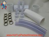 "RENU Manifold Hot Tub Spa Old To New Style 2""spg x (4)3/4"" Coupler Kit Video How To"