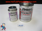 PVC Red Hot Blue Glue 16oz and Purple Primer Christy's 4oz Hot Tub Spa Video