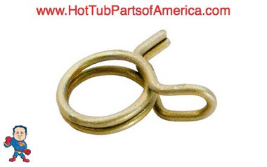 "(1) Tubing Clamp, Fits Tubing 3/8"" I.D. x 1/2""O.D., Double Wire, for Air System Parts"