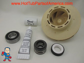 Spa Hot Tub Pump 2.5HP Impeller (1) Bearing & Seal Kit May 2009+ Jacuzzi® Premium or Sundance® Video How To