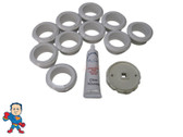 American Products 10 Luxury Flanges Silicon & Tool Kit Fits La Spa & Others