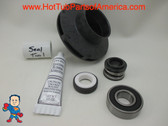 "Impeller & Seal (1) Bearing Kit Aqua-Flo XP2 1.0 HP 2 1/8"" Eye with 1/4"" Vane Width 3 7/8"" OD"