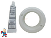 """American Products Jet Body Luxury Flange & Silicon Kit 2 5/8"""" Hole Size Fits La Spa & Others"""