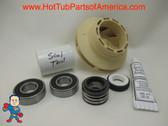 "Impeller, Seal (2) Bearing Kit LX Guangdong 48 frame 1HP 2 3/8"" Eye Vane Width 1/4"" 3 3/4"" OD How To Video"