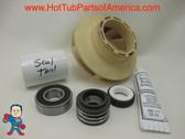 "Impeller, Seal (1) Bearing Kit LX Guangdong 48 frame 1.5HP 2 3/8"" Eye Vane Width 5/16"" 4"" OD How To Video"