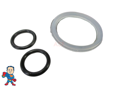 "Spa Hot Tub 1"" Waterfall or Neck Jet Control (3) O-Ring Kit Waterway CMP Hydroair O-Rings"