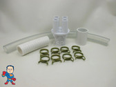 """Renu Manifold Kit Hot Tub Spa Part 1""""Slip x (4) 3/4"""" Ports to 1/2"""" Water HotSpring Video How To"""
