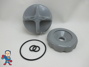 Dimension One D1 D-1 Diverter Knob Cap & O-Ring Kit Gray Spa Hot Tub Part