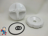 Dimension One D1 D-1 Diverter Knob Cap & O-Ring Kit White Spa Hot Tub Part
