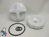 Dimension One D1 D-1 Diverter Knob Cap & O-Ring Kit White Spa Hot Tub Part