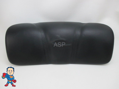 "Dynasty Spa Hot Tub Neck Pillow Black Head Rest 2009 Stitched Pin 6 1/4 "" Apart 1872"