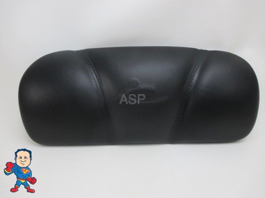 "Dynasty Spa Hot Tub Neck Pillow Black Head Rest 2009 Stitched Pin 6 3/4 "" Apart 1869 Flat Back"
