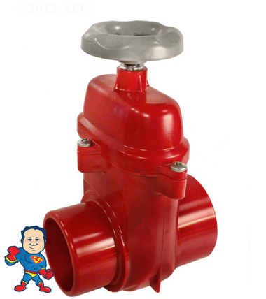 "Gate Valve, Waterway,  2-1/2"" Slip x 2-1/2"" Spigot, Coast Spas and Others"
