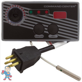 Analog Topside Control, Air, Tecmark, 115V, 2-Button, Temp Display w/10' Cable & Overlay, Command Center