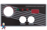 Overlay, 2-Button, Analog Topside Control, Air, Tecmark, Temp Display, Command Center