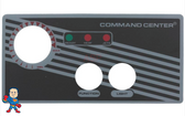 Overlay, No Temp Display, 2-Button, Analog Topside Control, Air, Tecmark, Command Center NOTE: This Overlay Does Not Feature a window for the Temperature Read out.. If your topside does have the Temperature Display look for the version with the window..