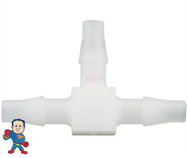 """Air Tubing, Tee, In-Line Bleeder, 1/8"""" Barb x 1/8"""" Barb x 1/8"""" Barb, Tube used on Air Switches and Buttons"""