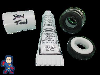 Jacuzzi Bracketless (8) Mount Piranha Pump Seal Parts Kit with Silicon