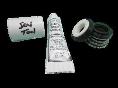 Jacuzzi (4) Mount Piranha Thera-Max Thera-Flo Pump Seal Parts Kit with Silicon